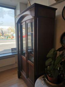 Armoire vitrine empire a colonnes