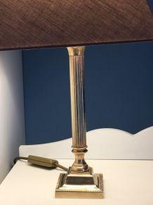 Lampe Laiton doré ancien milieu XXe
