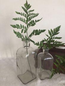 Paire de flacons d'apothicaire, verre ancien, décoration