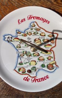 """Plateau de service """"Les fromages de France"""" - Années 70/80"""