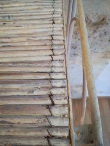Étagère fer et bambou