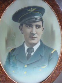 Cadre photo portrait d'aviateur