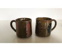 8 mugs en céramique vintage