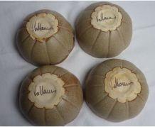 Ensemble de 4 bols Vallauris en grè émaillé, années 70...