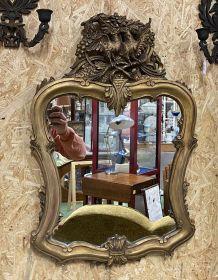 Miroir doré années 50