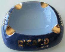 Cendrier publicitaire Ricard anisette céramique bleu nuit