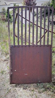 portillon de jardin  1900 fer rivetè forgè  140x80 cm enviro
