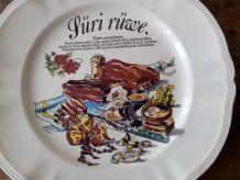 Grand plat en faïence de SAINT CLÉMENT