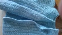 gilet bleu naissance