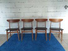 Chaises scandinave Farstrup 210 vintage années 60