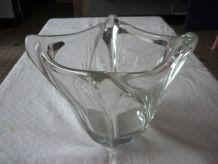 Vase évasé en cristal de Daum