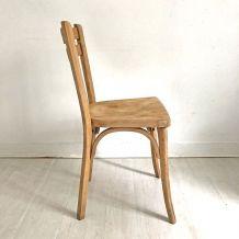 Chaise bistrot Baumann vintage 50's Bois Brut