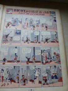 Livre, bande dessinee, Les farces de Bicot, 1929, collector