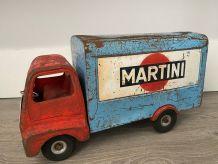 """""""CAMION MARTINI"""" Jouet en tôle  1950 TRI ANG"""