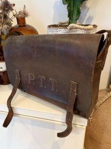 Sacoche besace PTT Vintage