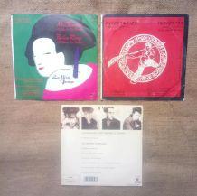 Lot de 3 vinyles du groupe Indochine (45 tours)