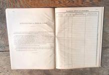 Ancien Cahier de surveillance de la Gendarmerie Nationale