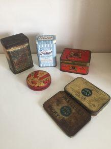 Lot boites anciennes en métal
