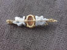Broche Carven vintage camée  plaqué or