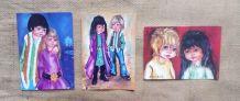 Lot de 6 cartes postales Poulbot parisien - Années 70
