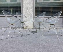 Set de 4 fauteuils Eros, Philippe Starck pour Kartell