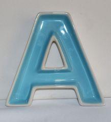 5 Coupes céramique lettres multicolores