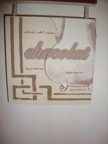 Cadre triptyque peint à la main