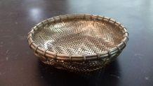 5 coupelles en métal argenté