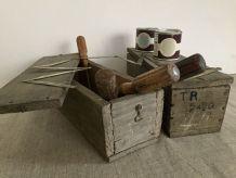 Les boites de l'atelier de Lucien