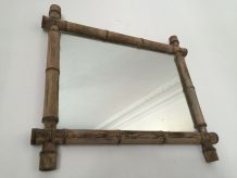 Miroir ancien façon bambou
