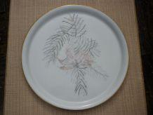Plat a tarte porcelaine Limoges fougeres