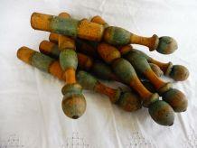 Jeu de quilles bois ancien (8)