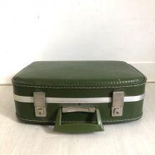 Petite valise verte vintage 60's