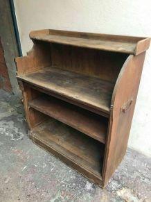 Meuble de métier ancien en bois vintage