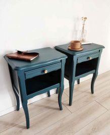 Paire Table Chevet bois