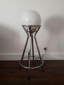lampe vintage a partir d un globe années70