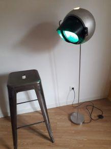 lampadaire vintage ancien feu tricolore (vert) des usa