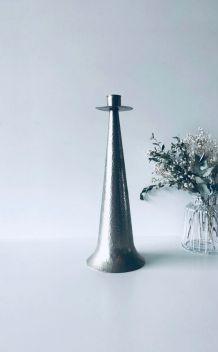 Grand bougeoir scandinave métal martelé