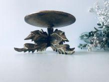 Pique cierge brutaliste en bronze