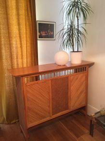 Bar vintage en rotin et bambou