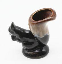 Vase écureuil en céramique