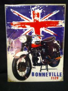 Plaque métal déco Triumph Bonneville