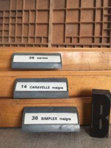 Ancien casier d'imprimerie