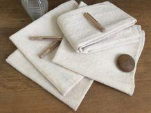 Paire de torchons XXL en chanvre, textile naturel