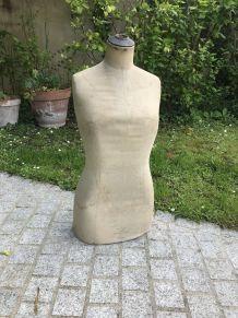 Ancien buste de mannequin de couture Stockman vintage 1950