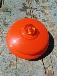 Boite à bijoux en opaline orange