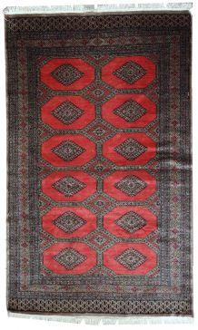 Tapis vintage Ouzbek Bukhara fait main, 1C474