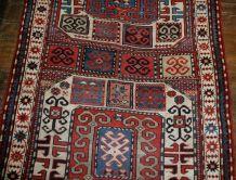 Tapis ancien Caucasien Karabagh fait main, 1B523