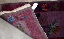 Tapis ancien Chinois Art Deco fait main, 1B568
