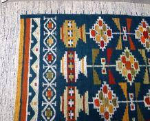 Tapis vintage Scandinave à plat kilim fait main, 1B592
